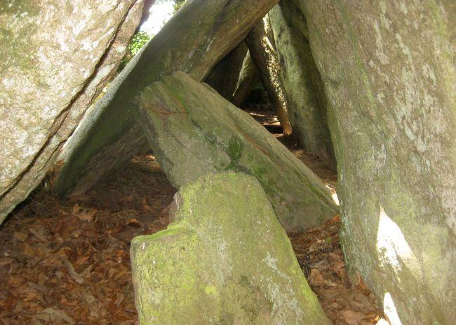 zwischen den steinen des Galeriegrabes