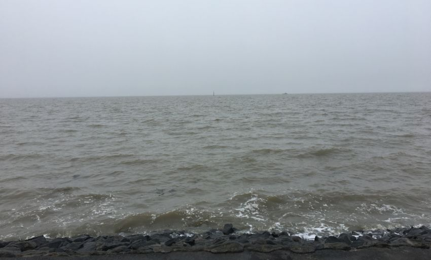 Meer in NOrddeich bei schlechtem Wetter