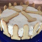 Zitronen-Quark-Torte mit Mandelbiskuit