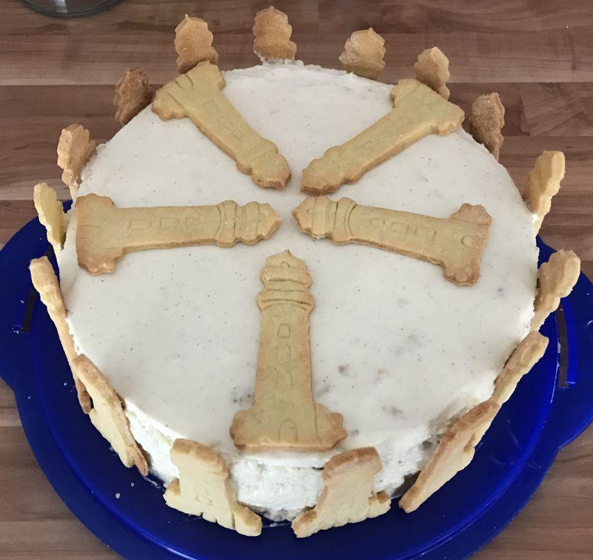 Zitronen-Quark-Torte von oben