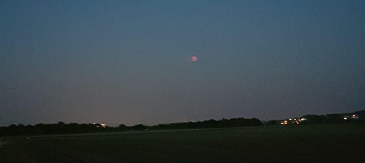blasser Mond bei der Mondfinsternis 2018